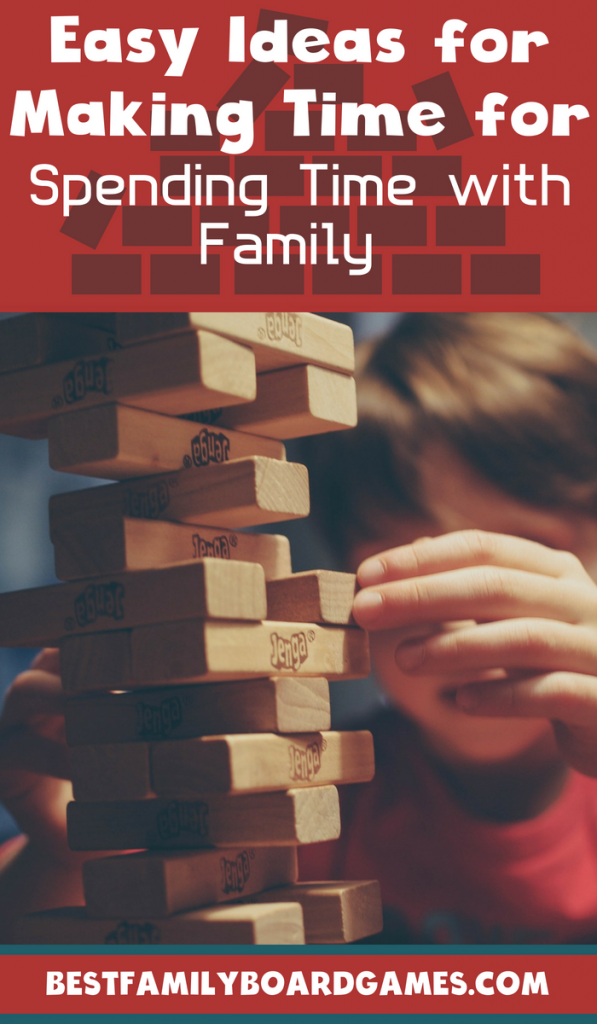 Photo of a kid playing Jenga- Fun ways to make time for family time