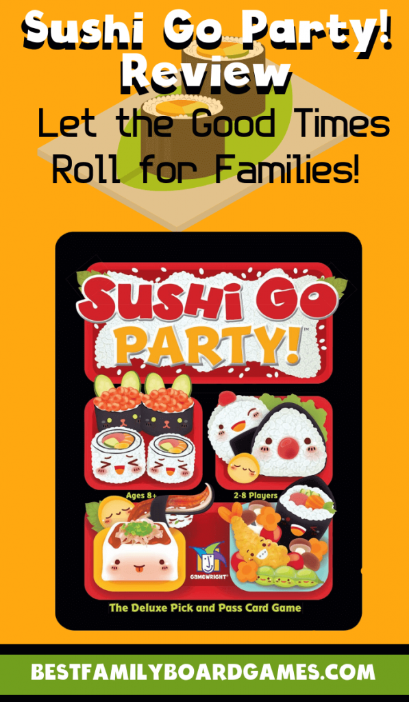Looking for a new strategic game for your family? Check out our Sushi Go Party! review. Its fun fast play & great replayability make it a favorite for us!